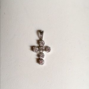 Jewelry - Sterling Silver and CZ Cross Pendant